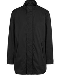 Armani - Black Shell Raincoat - Size 44 - Lyst