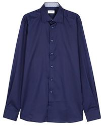 Eton of Sweden - Navy Contemporary Cotton Twill Shirt - Lyst
