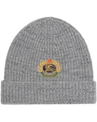 Burberry - Embroidered Archive Logo Wool Blend Beanie - Lyst