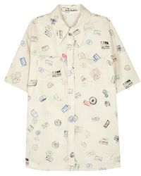 Acne Studios - Rosah Passport-print Twill Shirt - Lyst