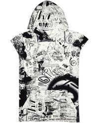 MM6 by Maison Martin Margiela - Graffiti-print Cotton Sweatshirt - Lyst