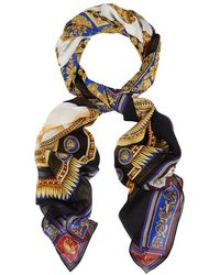 Versace - The Lovers-print Silk Chiffon Scarf - Lyst