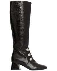 Burberry - Stud Detail Leather Knee-high Boots - Lyst