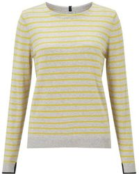 Jigsaw - Cotton Cash Stripe Jumper - Lyst