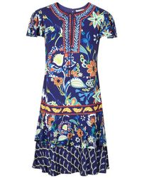 Alice + Olivia - Kora Floral-print Dress - Lyst