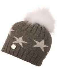 108809c17e7 Popski London - Charcoal Starry Hat With White Pom Pom - Lyst