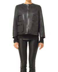 Leon Max - Coated Basketweave Zip Front Jacket - Lyst