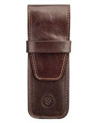 Maxwell Scott Bags - Pienza Leather Pen Case - Lyst