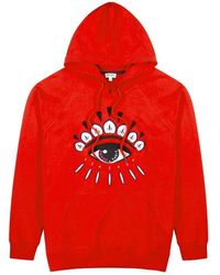 KENZO - Eye-embroidered Hooded Cotton Sweatshirt - Lyst