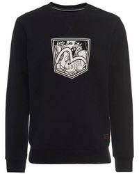 Evisu - Fisherman Seagull Pocket Print Sweatshirt - Lyst