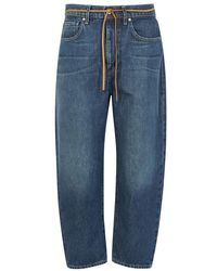 Levi's - Barrel Blue Cropped Boyfriend Jeans - Lyst