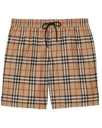 Burberry - Vintage Check Drawcord Swim Shorts - Lyst