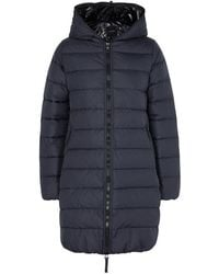 Duvetica - Ace Navy Quilted Shell Coat - Lyst