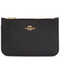 COACH - Zip Leather Card Case - - Lyst