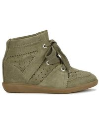 Isabel Marant - Bobby Olive Suede Ankle Boots - Lyst