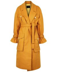 Mother Of Pearl - Weston Mustard Wool-blend Coat - Lyst