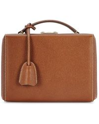 Mark Cross - Grace Small Brown Leather Box Bag - Lyst