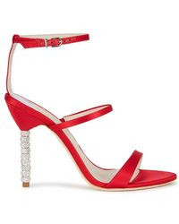 Sophia Webster - Rosalind Red Satin Sandals - Lyst