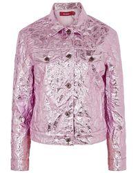 Sies Marjan - Alby Metallic Pink Crinkled Jacket - Lyst