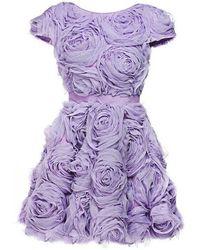 Mihano Momosa - Midi Lilac Roses Dress - Lyst