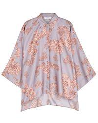 Versace - Baroqué-print Oversized Silk Shirt - Lyst