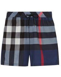 7904daee520d9 Burberry - Check Drawcord Swim Shorts - Lyst