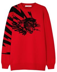 Givenchy - Flying Cat Wool-jacquard Jumper - Lyst
