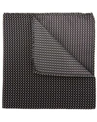Emporio Armani - Geometric-jacquard Silk Pocket Sqaure - Lyst