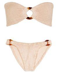 Hunza G - Gloria Blush Seersucker Bikini - Lyst