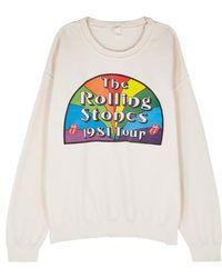MadeWorn - Rolling Stones 1981 Tour Cotton Sweatshirt - Lyst