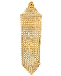 Paco Rabanne - Gold Tone Chainmail Single Earring - Lyst