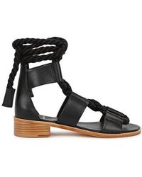 Pierre Hardy - Black Leather Sandals - Lyst