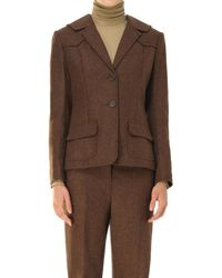 Max Studio - Heather Shetland Wool Fitted Blazer - Lyst
