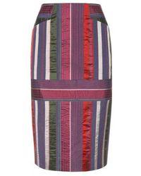 Varana - Striped Silk Skirt - Lyst