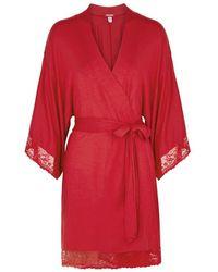 Eberjey - Colette - Kimono Robe (scarlet) Women's Robe - Lyst