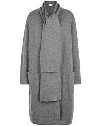 Le Kasha - Antigua Grey Cashmere Cardigan - Lyst