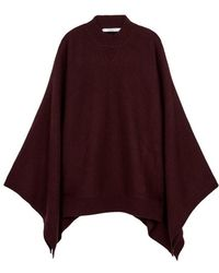 Givenchy - Maroon Cashmere Cape - Lyst