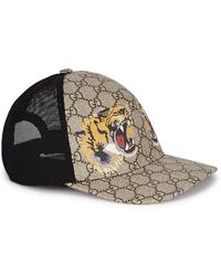 2d629d9bc58 Gucci Gg Supreme Wolf Cap in Black for Men - Lyst
