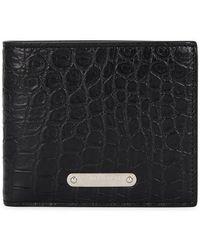 Saint Laurent | Crocodile-effect Leather Wallet | Lyst