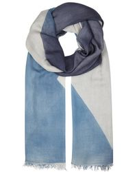 Eileen Fisher - Blue Printed Modal Scarf - Lyst