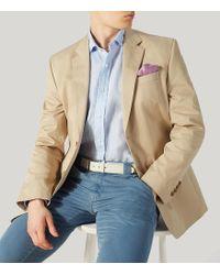 Harvie & Hudson - Beige Cotton Summer Jacket - Lyst