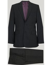 Harvie and Hudson | Grey Prince Of Wales Tailored Fit Suit | Lyst