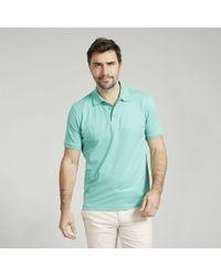 Harvie & Hudson - Peppermint Short Sleeve Cotton Polo - Lyst