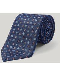 Harvie & Hudson - Blue And Pink Ladybirds Printed Tie - Lyst