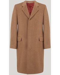 Harvie & Hudson - Beige Camel Wool Coat - Lyst