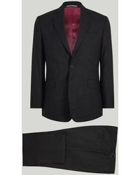 Harvie & Hudson - Grey Houndstooth Wool Suit - Lyst
