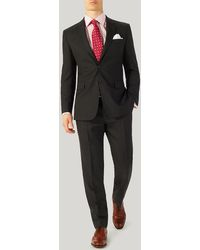 Harvie & Hudson - Grey Hopsack Suit - Lyst