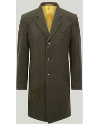 Harvie & Hudson - Lovat Green Wool And Cashmere Blend Coat - Lyst