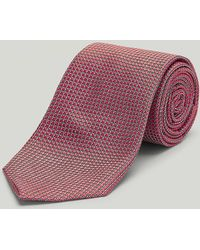Harvie & Hudson - Orange Mini Circles Woven Silk Tie - Lyst