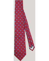 Harvie & Hudson - Burgundy Abstract Square Woven Silk Tie - Lyst